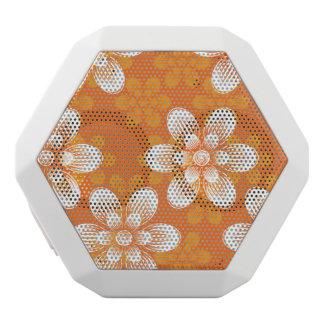 Flowers Pattern White Boombot Rex Bluetooth Speaker