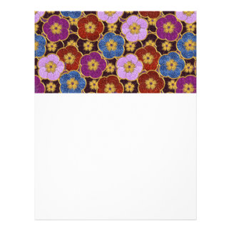Flowers Pattern In Multi-Colors 21.5 Cm X 28 Cm Flyer