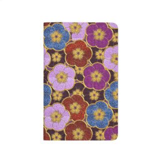 Flowers Pattern In Multi-Colors Journals