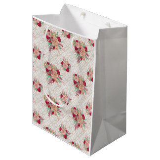 Flowers Pattern Medium Gift Bag