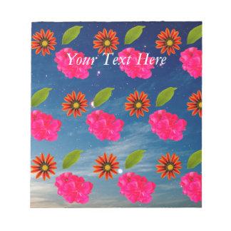 Flowers Pattern Notepad