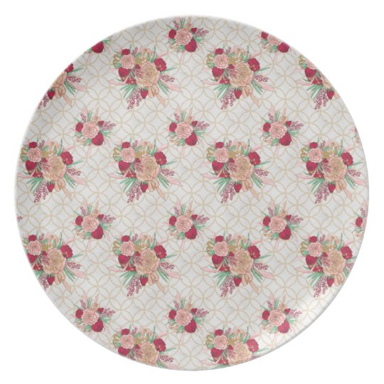 Flowers Pattern Plate
