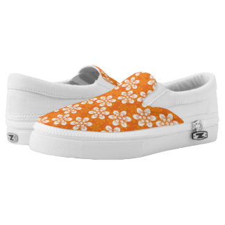 Flowers Pattern Slip On Shoes