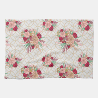 Flowers Pattern Tea Towel