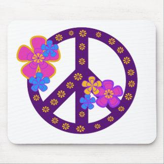 Flowers Peace Symbol Mousemats