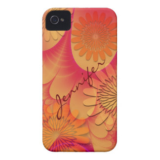 Flowers & Petals artistic iPhone 4 case with Name