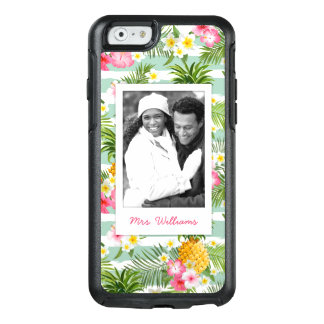 Flowers & Pineapple | Add Your Photo & Name OtterBox iPhone 6/6s Case