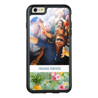 Flowers & Pineapples | Add Your Photo & Text OtterBox iPhone 6/6s Plus Case