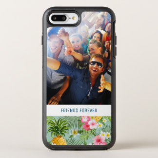 Flowers & Pineapples | Add Your Photo & Text OtterBox Symmetry iPhone 8 Plus/7 Plus Case