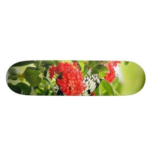 Flowers Plants Butterfly Butterflies 18.1 Cm Old School Skateboard Deck
