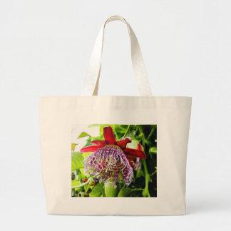 Flowers Plants On Tree Canvas Bag