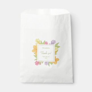 Flowers plumeria, White Favor Bag