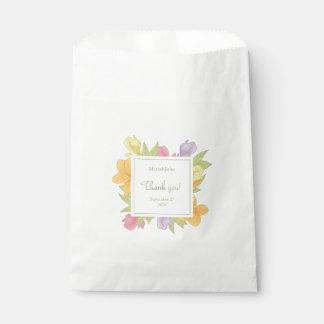 Flowers plumeria, White Favor Bag Favour Bags