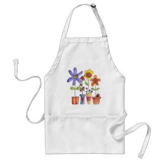 Flowers pots standard apron