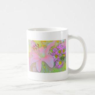 Flowers Pretty Colourful Basic White Mug