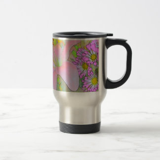 Flowers Pretty Colourful Stainless Steel Travel Mug