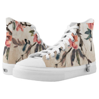 Flowers Printed Shoes
