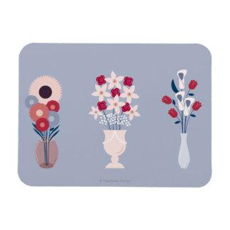 Flowers Rectangular Photo Magnet