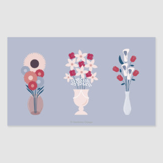 Flowers Rectangular Sticker