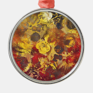 flowers red christmas ornament