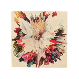 flowers, red, orange, pink, peony, peonies, nice, wood print