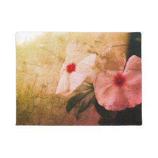 Flowers Retro Photo  Door Mat