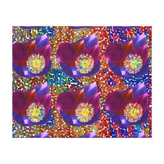 FLOWERS : Rose Petal Art n Sparkling Base Stretched Canvas Prints