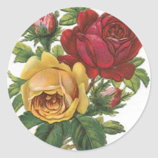 Flowers Round Sticker