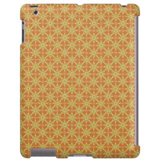 Flowers, Rust, Green, Cream: Case-Mate iPad Case