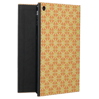 Flowers Rusty Red Green Cream Powis iPad Case