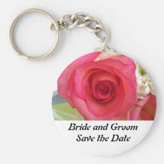 Flowers Save the Date Key Ring