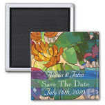 Flowers - Save The Date Magnet