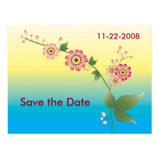 Flowers Save the date Postcard