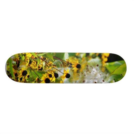 Flowers Seeding Custom Skate Board