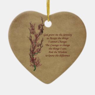 Flowers Serenity Prayer Inspirational Ornament