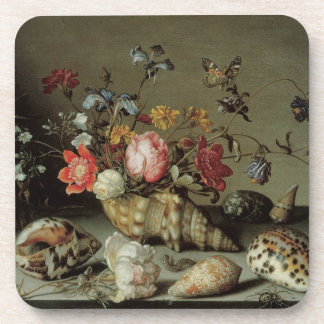 Flowers Shells and Insects Balthasar van der Ast Beverage Coaster