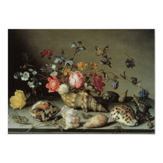 Flowers, Shells and Insects Balthasar van der Ast 5x7 Paper Invitation Card