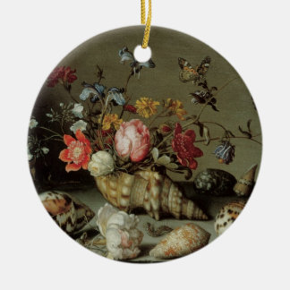 Flowers, Shells and Insects Balthasar van der Ast Round Ceramic Decoration