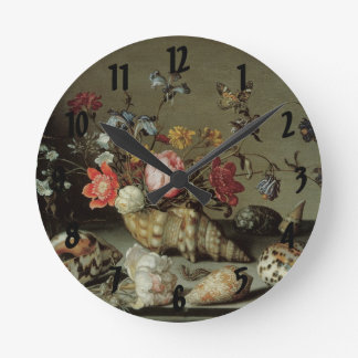 Flowers, Shells and Insects Balthasar van der Ast Round Clock