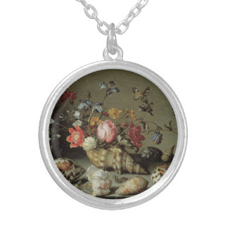 Flowers, Shells and Insects Balthasar van der Ast Silver Plated Necklace