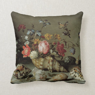 Flowers, Shells and Insects Balthasar van der Ast Throw Pillow