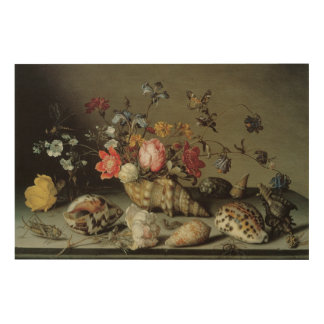 Flowers, Shells and Insects Balthasar van der Ast Wood Print