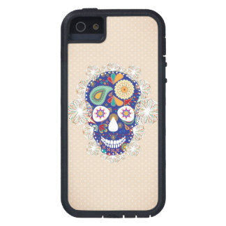 flowers skull iphone iPhone 5 cover