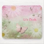 Flowers + Soft Swirl Vines + Butterfly Feminine