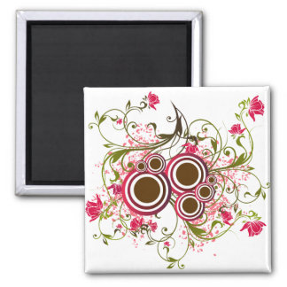 Flowers Square Magnet