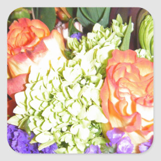 Flowers Square Stickers
