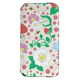 Flowers, Strawberries, and Bees Incipio Watson™ iPhone 6 Wallet Case