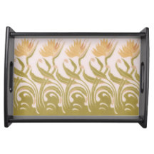 Flowers Stylised Nouveau Serving Trays