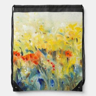 Flowers Sway II Drawstring Bag