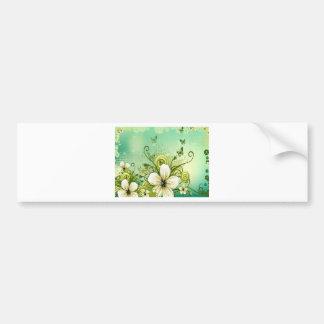 Flowers swirls graphic design bumper sticker